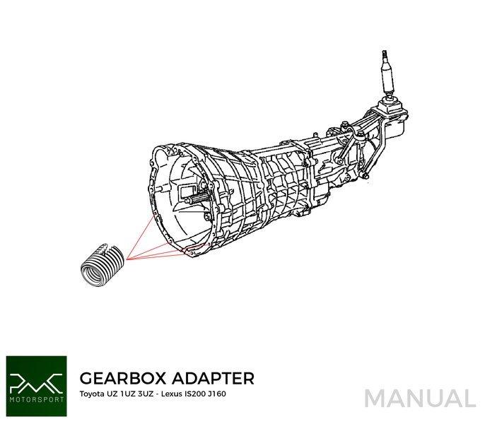 Pmc Motorsport Stage 1 Adapter Kit Toyota Jz 1jz 2jz Toyota Altezza Lexus Is200 J160 Aisin Az6 First Gen 600nm 442 39 Lb Ft Swap Solutions Adapter Kits