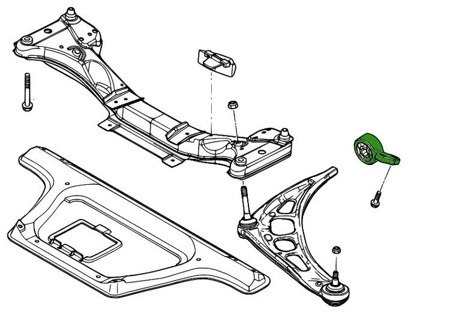 "PMC Motorsport Adjustable Control Arm- / Trailing Arm Bush Bracket ""lollipops""  BMW E46 Uniball"