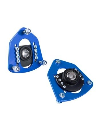 PMC Motorsport Adjustable camber caster plates / Front Adjustable Top Mount BMW E30 E34 Steel / Standard Suspension