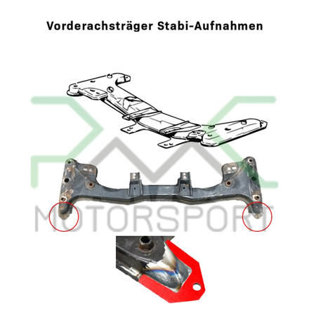 PMC Motorsport Rear Chassis / Subframe Reinforcement Kit BMW E30