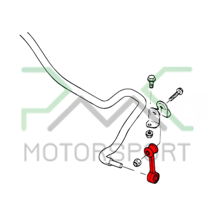 PMC Motorsport Sway Bar Link - Rear (droplinks / drop links) BMW E46 E46 Compact  Polyurethane 80ShA