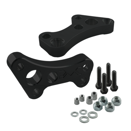 Stage 2 PMC Motorsport turn angle adapters BMW E46 (Lock Kit / Steering Lock Adapters) / Black