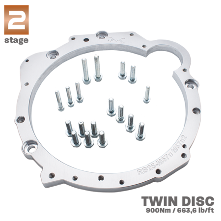 "PMC Motorsport RACE STAGE 2 Adapter Kit Nissan RB RB20 RB25 RB26 RB30 - BMW M57N M57N2 ZF GS6-53DZ HGD JGA E60 Diesel 184mm 7.25"" POT (2)"