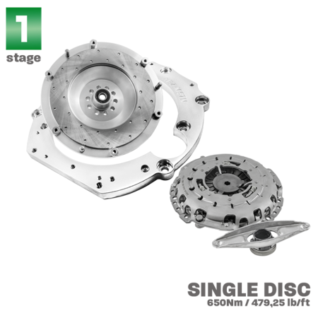 PMC Motorsport STAGE 1 Adapter Kit Audi 4.2 V8 ABZ - BMW M57N2 ZF GS6-53DZ HGD JGA E60 530D / 240mm / Single Disc