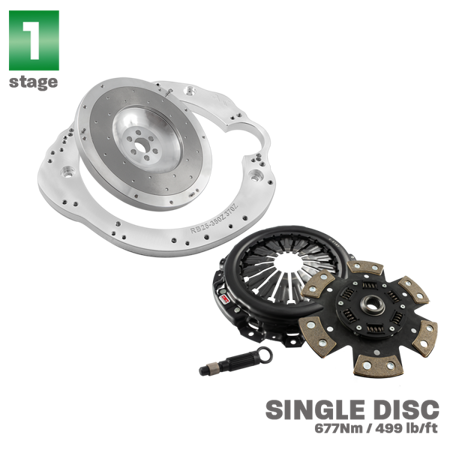 PMC Motorsport STAGE 1 Adapter Kit Nissan RB RB20 RB25 RB26 RB30 - Nissan 350Z Z33 370Z Z34 / Competition Clutch CC-6073-2600