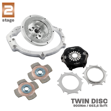 "RACE STAGE 2 Adapter Kit Toyota JZ - BMW  N54 GS6-53BZ /  N52 N53 GS6-37BZ 184mm 7.25"" POT"