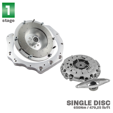 PMC Motorsport STAGE 1 Adapter Kit Saab H B204 B205 B234 B235 - BMW M57N2 ZF GS6-53DZ HGD JGA E60 530D / 240mm / Single Disc